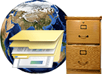 Global access online file storage
